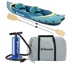 Kayaks sevylor clear creek 2 person kayak combo