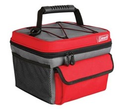 Coleman Soft Coolers coleman 10 can rugged lunch box cooler red gray